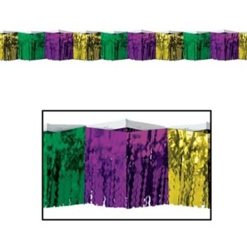 Diamond Metallic Fringe Drape (2-Ply FR Diamond Metallic Fringe Drape (gold, green, purple) Party Accessory  (1 count))