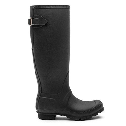 HunterOriginal Tall Adjustable - Stivali Donna, Nero (nero), 3 UK