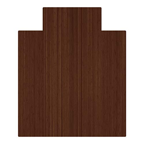 - Anji Mountain AMB24053 Bamboo Roll-Up Chair Mat with Lip, Walnut, 52 x 44, 5mm Thick