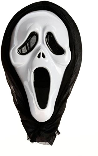 Buy Halloween White Scary Ghost Mask Wide Mouth Online at Low ...
