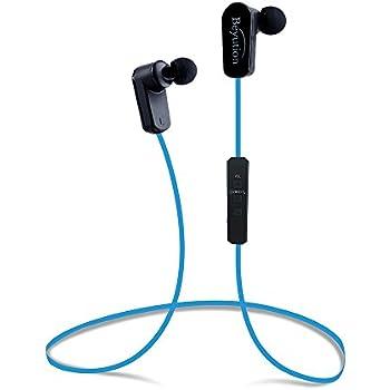 Beyution New Sports Hi-fi Bluetooth 4.1 Version Bluetooth Headphones ---Mini Lightweight Wireless Stereo Sports/running Bluetooth Earbuds Headphones Headsets Built in Mic-phone (508s-v4.1-blue)