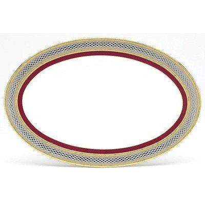 Noritake Ruby Coronet 8-1/2-Inch Butter/Relish Tray