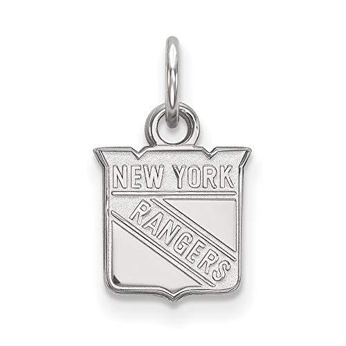 (Roy Rose Jewelry Sterling Silver NHL LogoArt New York Rangers X-small Pendant/Charm)