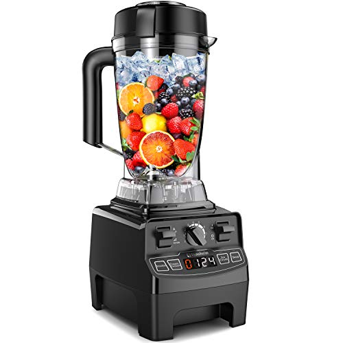 Vanaheim GB64 Professional Blender 1450W,64Oz Container,Variable Speed,Built-in Timer,Self Cleaning,Powerful Blade for Easily Crushing Ice, Smoothies,Frozen Dessert Black