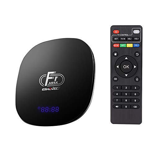 ESHOWEE Android 8.1 TV Box F1 Amlogic S905W Quad-core 64 Bit DDR3 2GB 16GB 4K UHD WiFi and LAN VP9 DLNA H.265