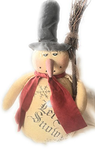 (Rustic Country Vintage Christmas Frosty Snowman -