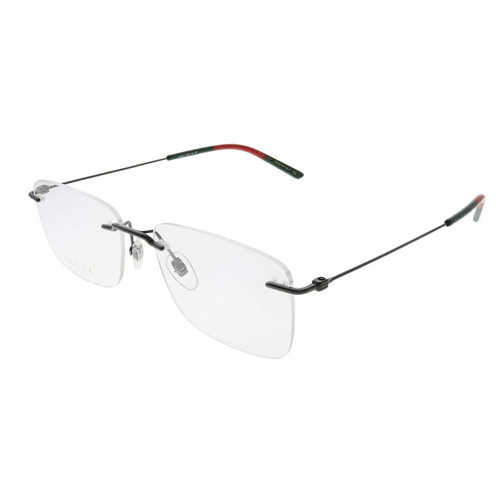 Gucci GG 0399O 001 Ruthenium Metal Rimless Eyeglasses 56mm