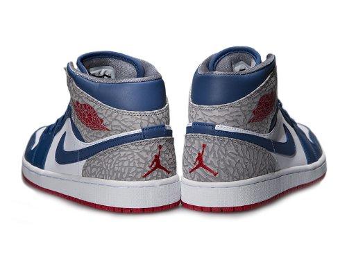 Nike AIR JORDAN 1 MID-42 - 8.5 554724-107-42 - 8.5 Blanc