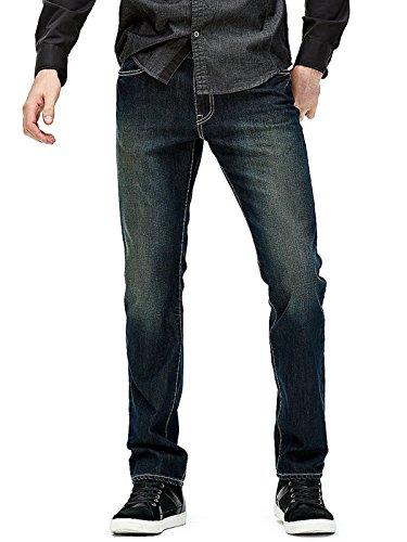 New Men/'s Guess McCrae Fit Ultra Slim Black Jeans Classic Rise Blue 32 34 36 38