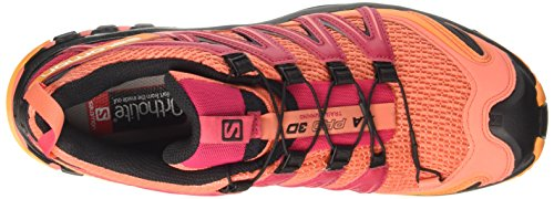 Salomon XA Pro 3D W, Zapatillas de Running Para Mujer Naranja (Living Coral / Black / Virtual Pink)