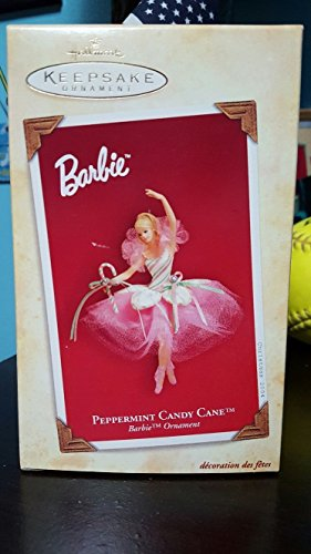 (2004 Hallmark Keepsake Ornament Peppermint Candy Cane Barbie)