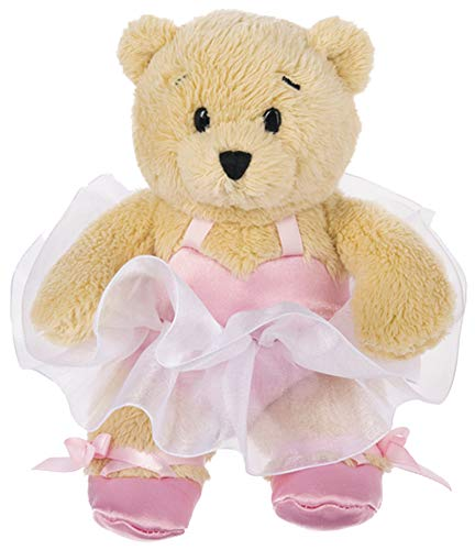 Ganz Plush Stuffed Animal Wee Bears Ballerina Bear in Pink Ballet Outfit, 6 inches. Ballet Dancer Doll from Ganz