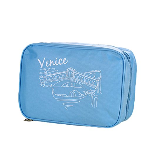 andyshi Travel Aufhängen Kulturbeutel/Waschen Tasche/Kosmetik Tasche/Make-up Tasche rose blau wYc9pE86M