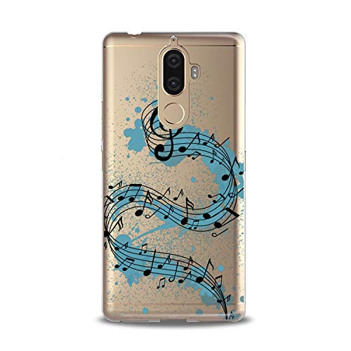 Lex Altern TPU Case for Lenovo Phone K8 Note K6 Note 2017 K5 Plus Z5 Watercolor Melody Design Flexible Music Soft Art Slim fit Print Melody Clear Treble Clef Smooth Gift Staff Lightweight Cover Song]()