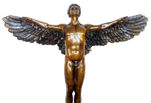 Large Icarus Sculpture - Mythological Bronze - signed Adolph Alexander Weinman from Kunst & Ambiente