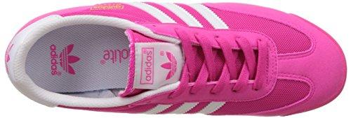 adidas Dragon J, Zapatillas de Deporte Unisex Bebé Rosa / Blanco (Rosimp / Ftwbla / Ftwbla)