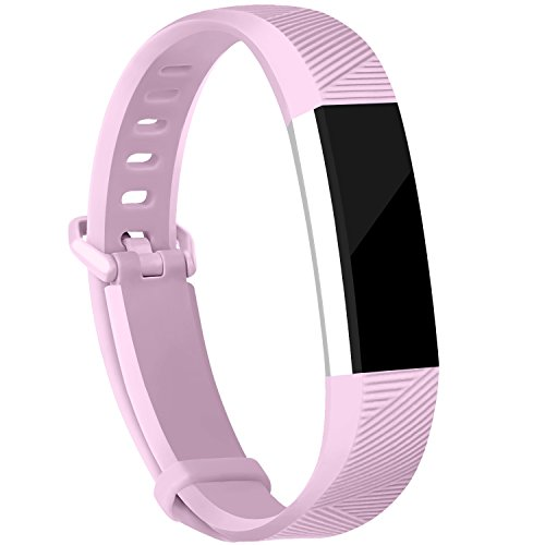For Fitbit Alta Bands and Fitbit Alta HR Bands, Newest Adjustable Sport Strap Replacement Bands for Fitbit Alta and Fitbit Alta HR Smartwatch Fitness Wristbands Lavender Large (Lavender Leather Band Watch)