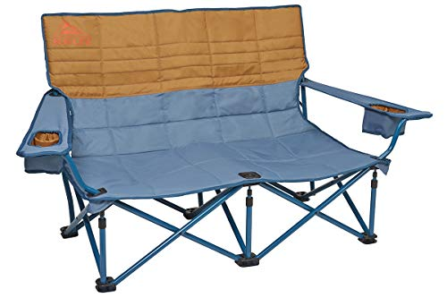 Kelty Low-Love Seat Camping Chair, Tapestry/Canyon Brown - Portable, Folding Chair for Festivals, Camping and Beach Days - Updated 2019 Model (Two Beach Chair Person)