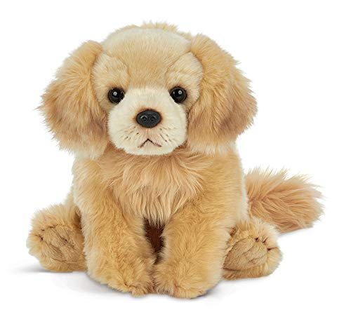 Bearington Goldie Golden Retriever Plush Stuffed Animal Puppy Dog, 13 inches