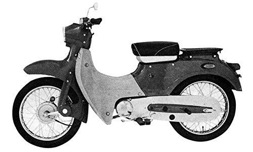1965 Kawasaki Pet B53 Motorcycle Factory Photo Japan from AutoLit