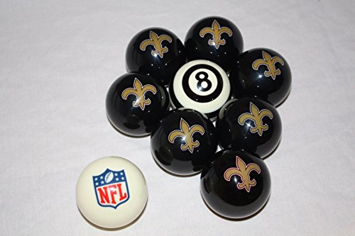 New Orleans Saints Billiard Pool Cue Ball Half Set