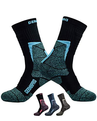 Womens Hiking Socks Outdoor Boot Socks w/Antibacterial Odor Moisture Wicking Germanium & Coolmax Coconut ()
