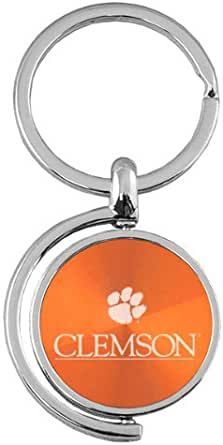 Spinner Key Tag Clemson University Orange