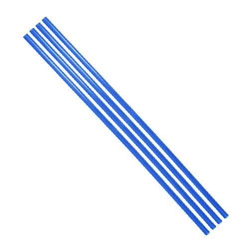 YILE 4PCs 500mm Length 10mm Diameter PETG PC Water Cooling Tube Rigid Acrylic Water Cooling Tube Water-Cooled Petg Hard Tube Computer Cooling Tube for Computer Water Cooling System (Blue)