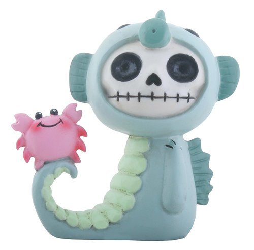 SUMMIT COLLECTION Furrybones Anchor Signature Skeleton in Sea Horse Costume with Little Pink Crab