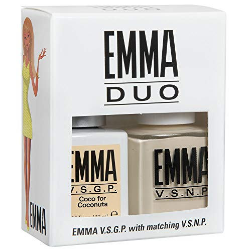 EMMA V.S.G.P. Coco For Coconuts, Gel & Nail Polish DUO (pack of 2)
