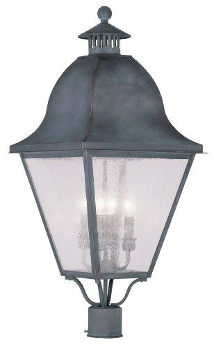 Livex Lighting 2548-61 Amwell 4-Light Outdoor Post Head, Charcoal
