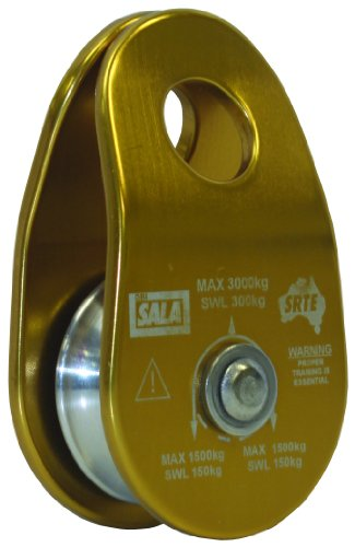 3M DBI-SALA Rollgliss Technical Rescue 8700012 Single Sheave, 40MM Diameter Rigging Pulley, Aluminum, 15