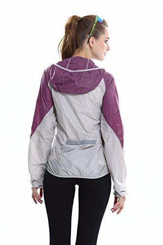 Quick Aiqi Purple Outdoor Sports Bike Cycling Jacket Unisex Coat transpirable Jersey Dry larga Wind manga qgrvqFw