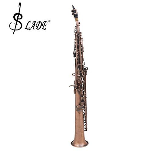 LADE WSS-899 Copper Soprano Bâ­ Saxophone Carved Abalone Shell Key by SOUND HOUSE 48 (Image #2)
