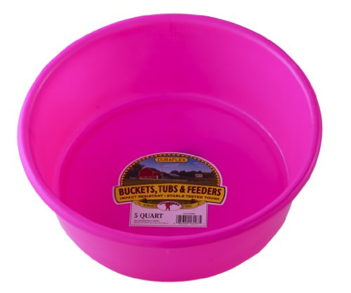 Little Giant P5HOTPINK Dura-Flex Plastic Utility Pan, 5-Quart, Hot -