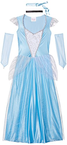 California Costumes Women's Classic Cinderella Fairytale Princess Long Dress Gown, Blue/White, Medium