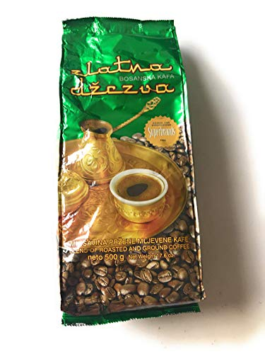 Bosnian Ground Coffee-Zlatna Dzezva (Vispak) 500g, Green Bag