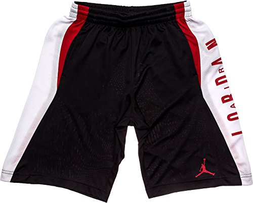 NIKE Jordan Boy's Knit Takeover Shorts Gym Red/Black (Small) Jordan Embroidered Shorts