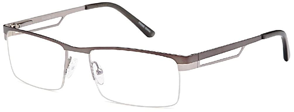 New Half Rimmed 100/% Stainless Steel Eyeglasses Frames Black