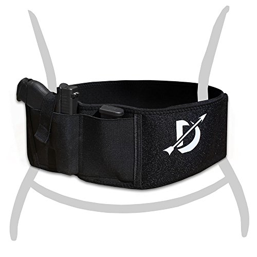 Domestic Defense Breathable elastic durable Belly Band Holster with dual magazine pouch fits any gun