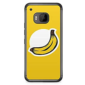 HTC One M9 Transparent Edge Phone Case Banana Phone Case Logo Banana M9 Cover with Transparent Frame