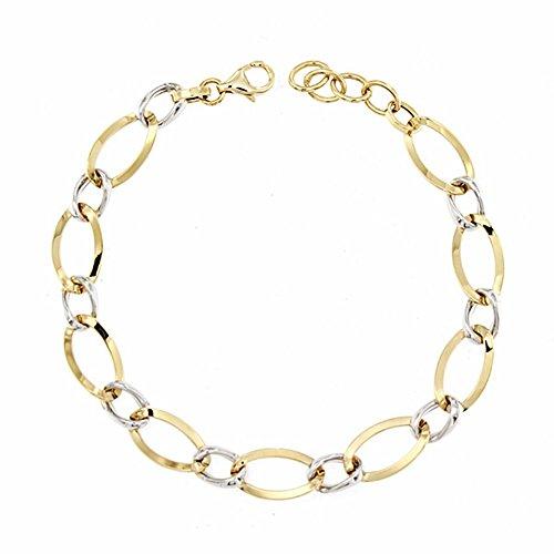 Bracelet 18k gold 22cm bicolor. [AA1685]