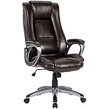 langria highback pu leather office chair adjustable executive manager swivel computer chair modern and ergonomic design wellpadded armrests