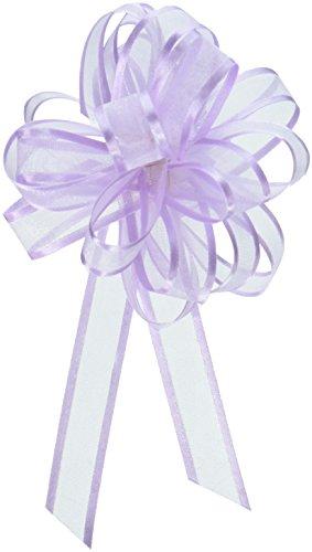 ABC-Bows - Lavender Sheer Satin Edge Pull Bows, 18 Loops, 5/8