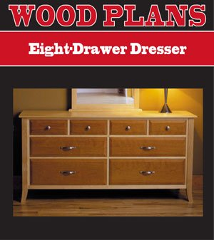 EIGHT DRAWER DRESSER WOODWORKING PAPER PLAN PW10065