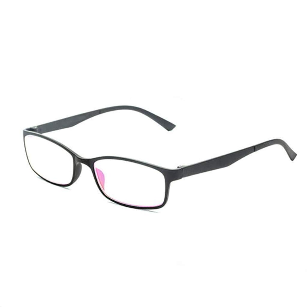 Gafas De Lectura Moda Ultra Liviana Cómodo Visión Elegante Viejo HD Gafas De Visión Cómodo Simple Negras (Color : 250°) 644050