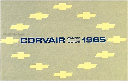 Corsa Steering Wheel - 1965 Corvair, Monza, Corsa, & Greenbrier Owner's Manual Reprint 65