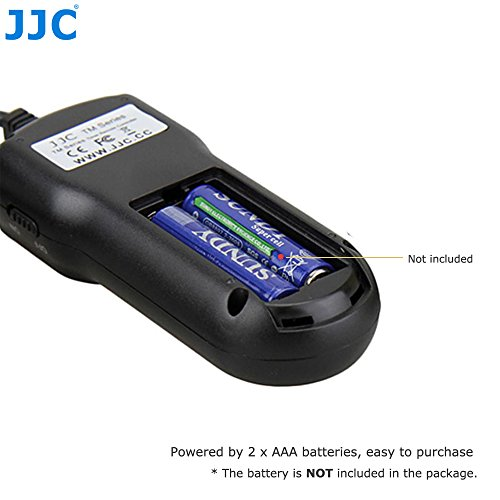 JJC Temporizador y Mando a Distancia de Disparo del Obturador con Abrazadera de Soporte para Trípode para Olympus OM-D E-M1/E-M5/E-M5 II/E-M10/E-M10 ...