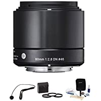 Sigma 60mm f/2.8 DN ART Lens for Sony E-mount Nex Cameras, Black, Bundle