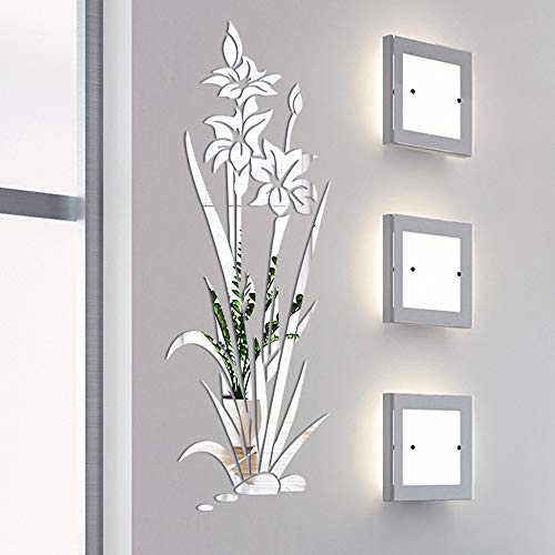 XQXCL 3D Hollow Wall Stickers Flowers Home Decoration Creative DIYWall Sticker Bedroom Art Mural